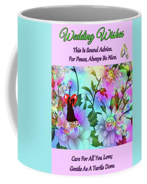 Art Coffee Mug featuring the digital art Brian Exton Celestial Flowers Bigstock 164301632 2991949 by Mitchell Watrous