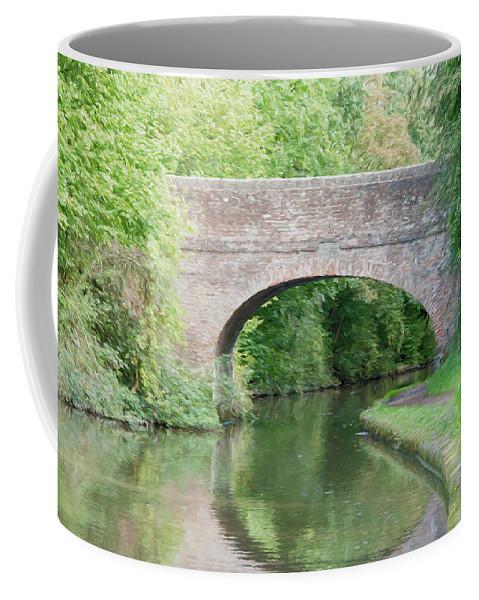 Tardebigge Locks Coffee Mug featuring the digital art Brick Canal Bridge by Roy Pedersen