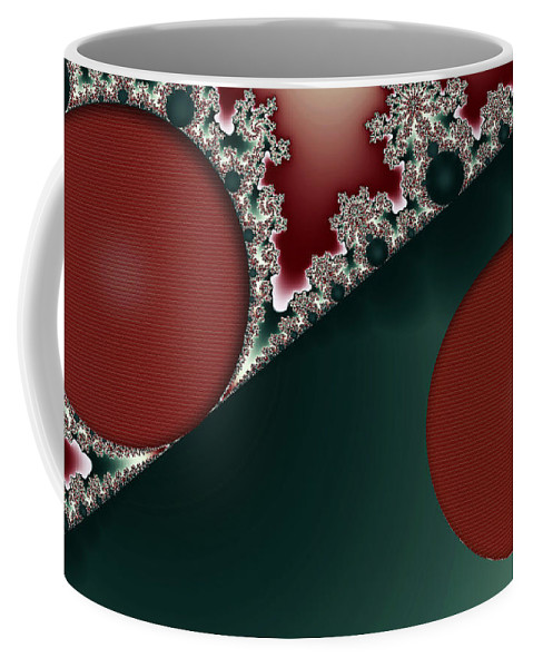 Clay Coffee Mug featuring the digital art Brick Foundation by Clayton Bruster