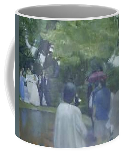 Wedding Coffee Mug featuring the painting Bridal Showers by Sheila Mashaw