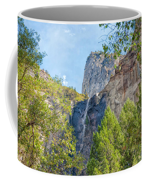 Landscape Coffee Mug featuring the photograph Bridalveil Fall by John M Bailey