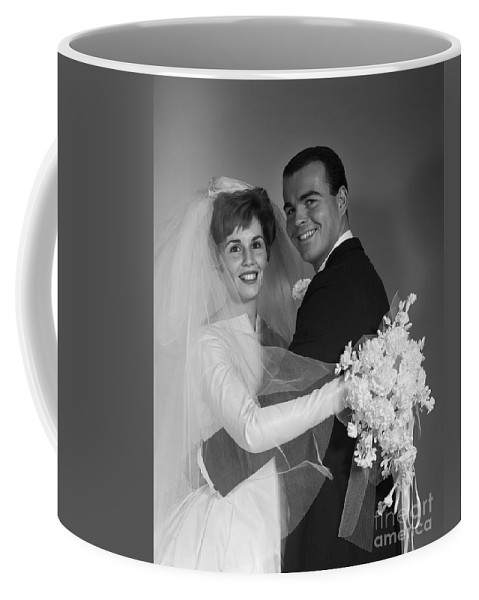 1960s Coffee Mug featuring the photograph Bride And Groom, C.1960s by H. Armstrong Roberts/ClassicStock