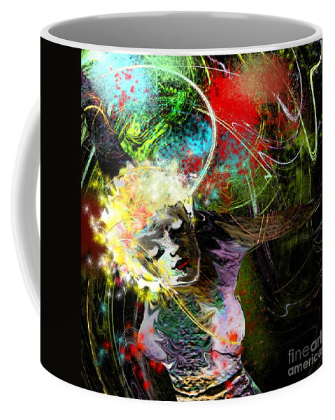 Fantasy Coffee Mug featuring the painting Bride Of Halos by Miki De Goodaboom