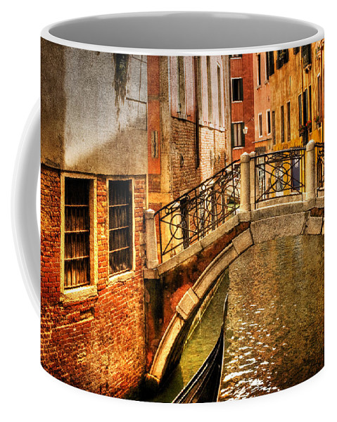 Venice Coffee Mug featuring the photograph Bridge Ahead by Mick Burkey