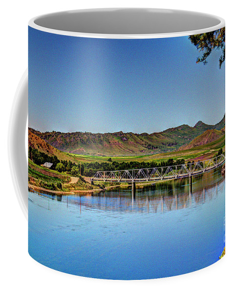 River Coffee Mug featuring the photograph Bridge At Wolf Creek by John Lee
