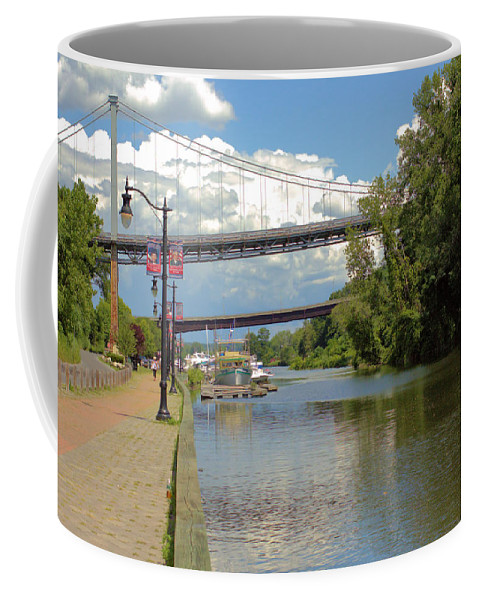 Historic Coffee Mug featuring the photograph Bridges Spanning The Rondout by Robert McCulloch