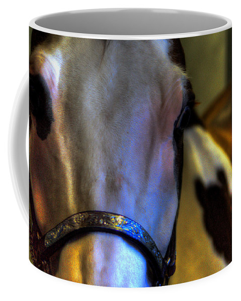Horse Coffee Mug featuring the photograph Bridled by David Patterson