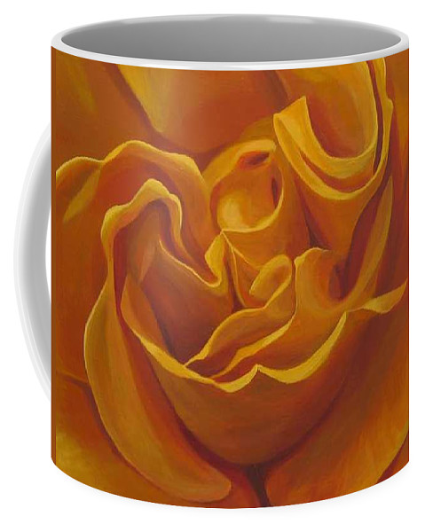 Yellow Rose In The Italian Countryside Coffee Mug featuring the painting Bright As Yellow by Hunter Jay