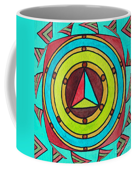 Bright Design Coffee Mug featuring the painting Bright Design by Norma Appleton
