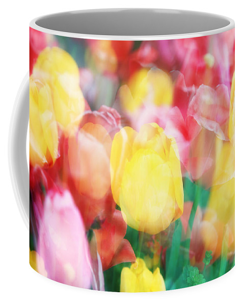 Tulips Coffee Mug featuring the photograph Bright Dreams In The Tulips by Toni Hopper