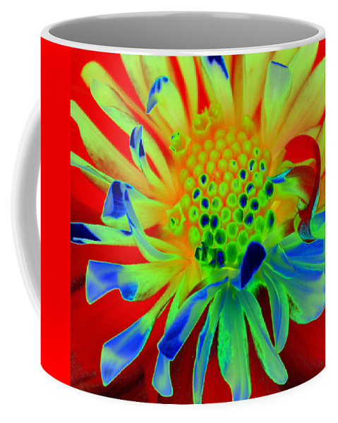 Diane Berry Coffee Mug featuring the painting Bright Flower by Diane E Berry