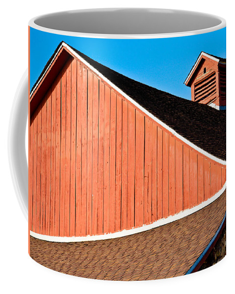 Americana Coffee Mug featuring the photograph Bright Red Barn by Marilyn Hunt