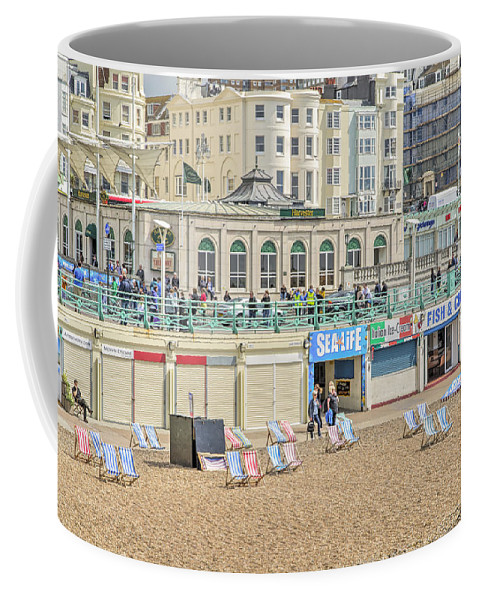 Promenade Coffee Mug featuring the photograph Brighton Seaside by Keith Armstrong