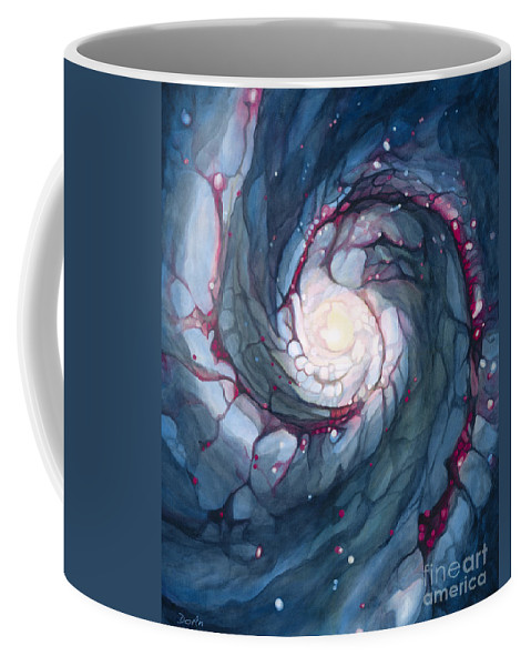 Brigid Coffee Mug featuring the painting Brigid The Goddess Of Fire Poetry And Healing by Do'an Prajna - Antony Galbraith