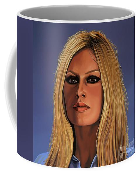 Brigitte Bardot Coffee Mug featuring the painting Brigitte Bardot Painting 3 by Paul Meijering