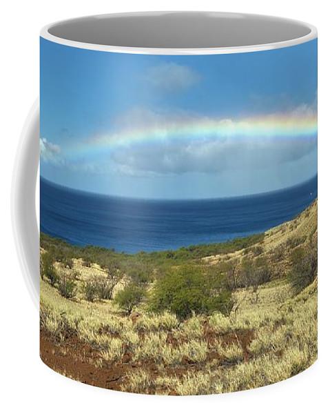 Rainbow Coffee Mug featuring the photograph Brilliant 'bow by David Bernal