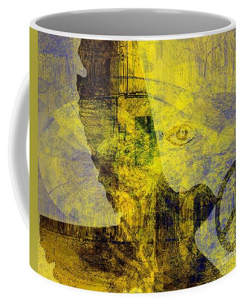 Fania Simon Coffee Mug featuring the mixed media Bring Me The Horizon by Fania Simon