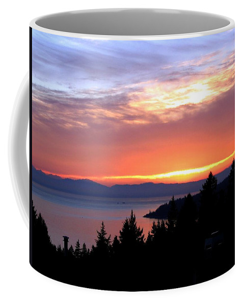 Sunset Coffee Mug featuring the photograph British Columbia Sunset by Will Borden