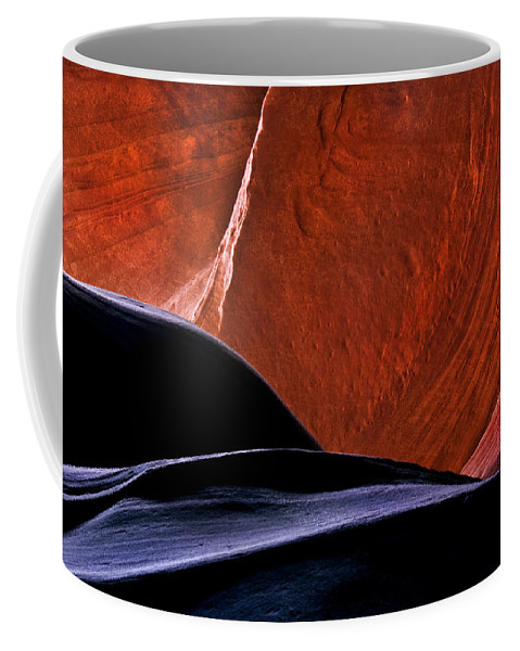 Sandstone Coffee Mug featuring the photograph Broken Dial by Mike Dawson