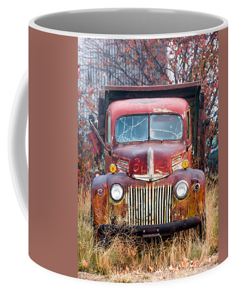 Vertical Coffee Mug featuring the photograph Old Abandoned Truck by Todd Klassy