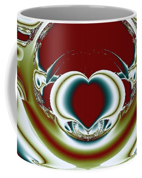 Fractals Coffee Mug featuring the digital art Broken Heart by Dominique Favre