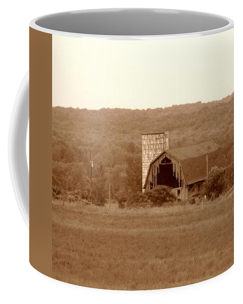 Barn Coffee Mug featuring the photograph Broken by Rhonda Barrett