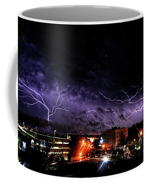 Lightning Coffee Mug featuring the photograph Broken Skies by Jason Bohannon