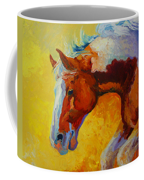 Western Coffee Mug featuring the painting Bronc I by Marion Rose