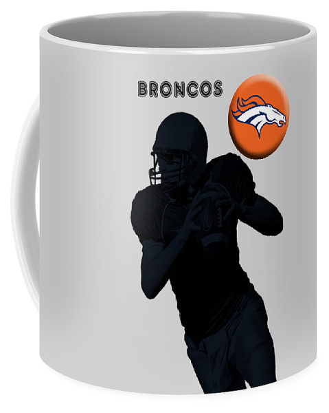 Broncos Coffee Mug featuring the digital art Broncos Football by T Shirts R Us -
