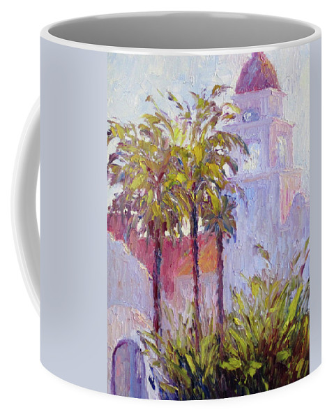 Art Coffee Mug featuring the painting Bronson Mansion by Terry Chacon
