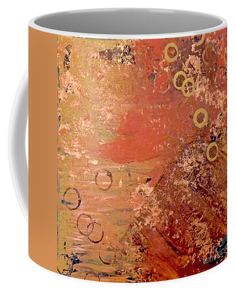 Rust Coffee Mug featuring the painting Bronze Oxidation by Jilian Cramb - AMothersFineArt