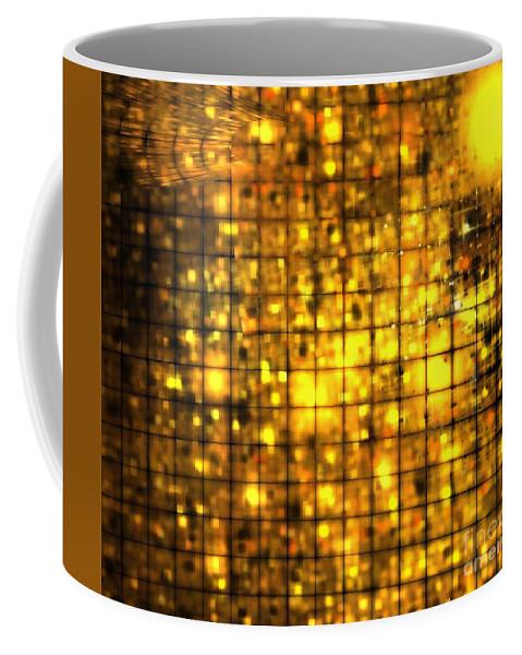 Apophysis Coffee Mug featuring the digital art Bronze Solar Cubes by Kim Sy Ok