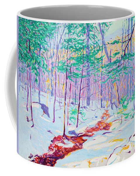 Brook In Winter Coffee Mug featuring the painting Brook In Winter, 1914 by Ambrose Webster