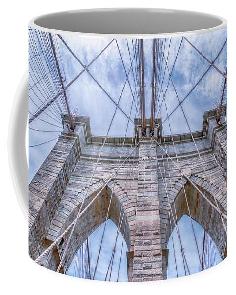 Brooklyn Bridge Coffee Mug featuring the photograph Brooklyn Bridge by Sandi Kroll
