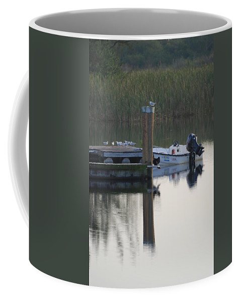 Water Coffee Mug featuring the photograph Broward Boat by Rob Hans