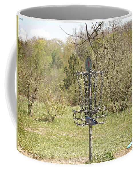 Brown Park Coffee Mug featuring the photograph Brown Park Disc Golf Course by Phil Perkins