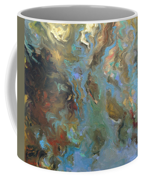 Water Coffee Mug featuring the painting Brown by Rick Nederlof