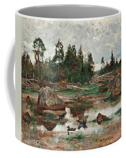 Nature Coffee Mug featuring the painting Bruno Liljefors,  Landscape From Uppland. 2 by Bruno Liljefors