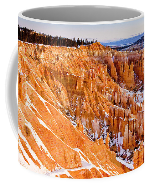 Landscape Coffee Mug featuring the photograph Bryce At Sunrise by Ches Black