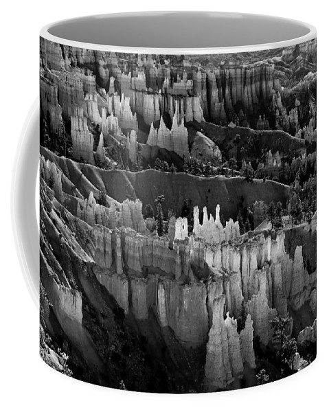 Bryce Canyon Coffee Mug featuring the photograph Bryce Canyon In Black And White by James BO Insogna