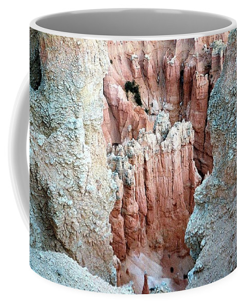 Rocks Coffee Mug featuring the photograph Bryce Crags by Deborah Crew-Johnson