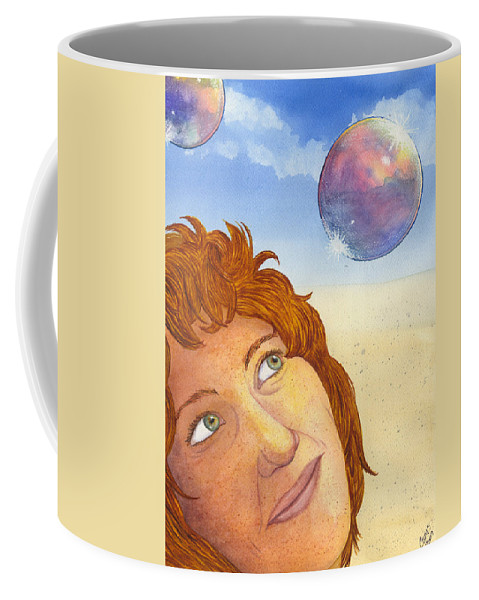 Bubble Coffee Mug featuring the painting Bubble Queen by Catherine G McElroy