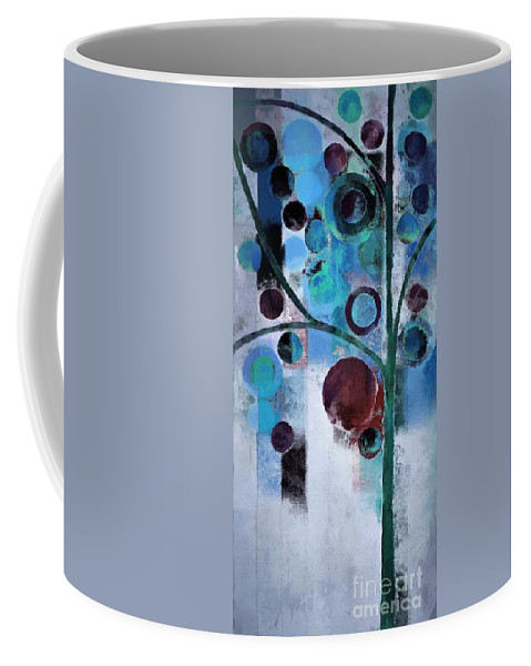 Blue Coffee Mug featuring the painting Bubble Tree - 055058167-86a7b2 by Variance Collections