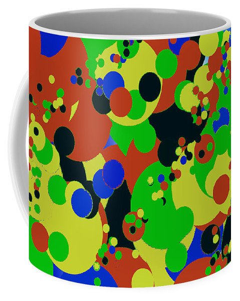 Abstract Bubbles 4 Coffee Mug featuring the digital art Bubbles 4 by John Saunders