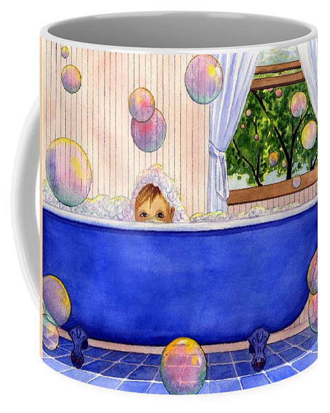 Bath Coffee Mug featuring the painting Bubbles by Catherine G McElroy