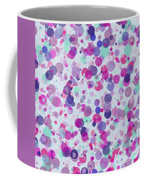 Bubbles Coffee Mug featuring the digital art Bubbles Ix by D Tao