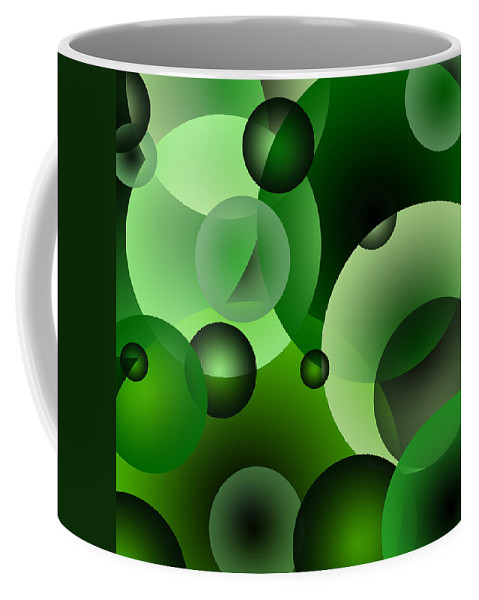 Green Coffee Mug featuring the digital art Bubbles by Svetlana Sewell