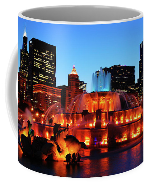 Buckingham Coffee Mug featuring the photograph Buckingham Fountain by James Kirkikis