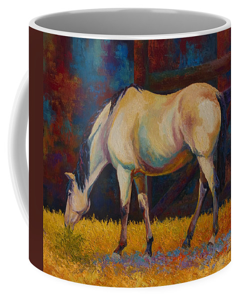 Horses Coffee Mug featuring the painting Buckskin by Marion Rose
