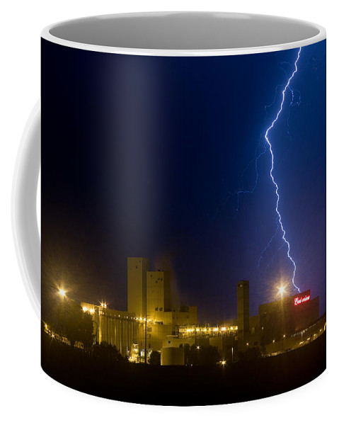Lightning Coffee Mug featuring the photograph Bud Light Ning by James BO Insogna